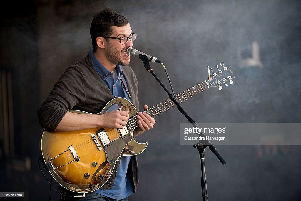 James Petralli of White Denim performs on stage during Falls Festival on December 30 2013 in Lorne Australia