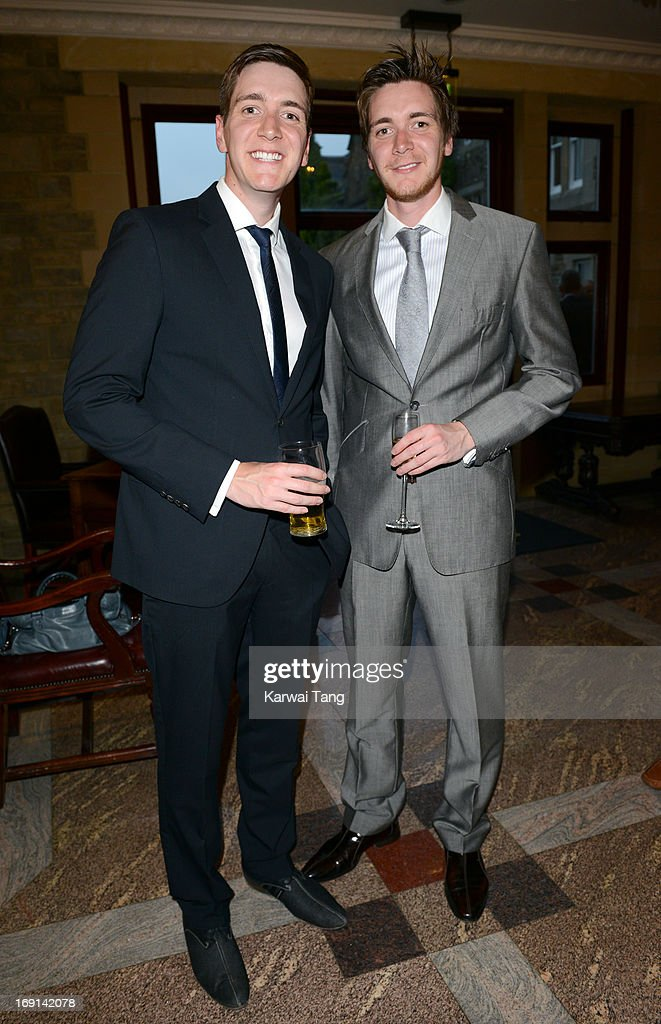 James Phelps and Oliver Phelps attend the celebrity golf classic drinks reception at the South Lodge Hotel on May 20, 2013 in Horsham, England.
