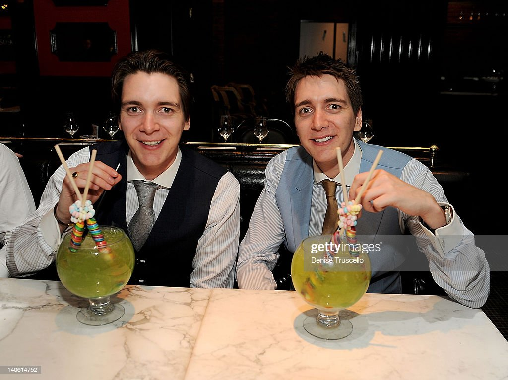 """Harry Potter"" Stars James And Oliver Phelps Dine At Sugar Factory American Brasserie At Paris Las Vegas"