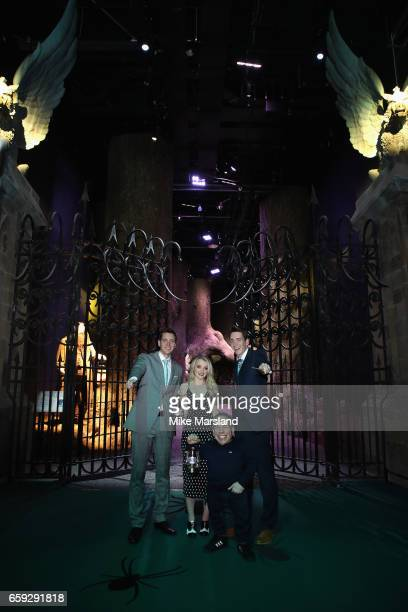 James Phelps Evanna Lynch Warwick Davis and Oliver Phelps attend the exclusive launch event for the Forbidden Forest a new expansion at Warner Bros...