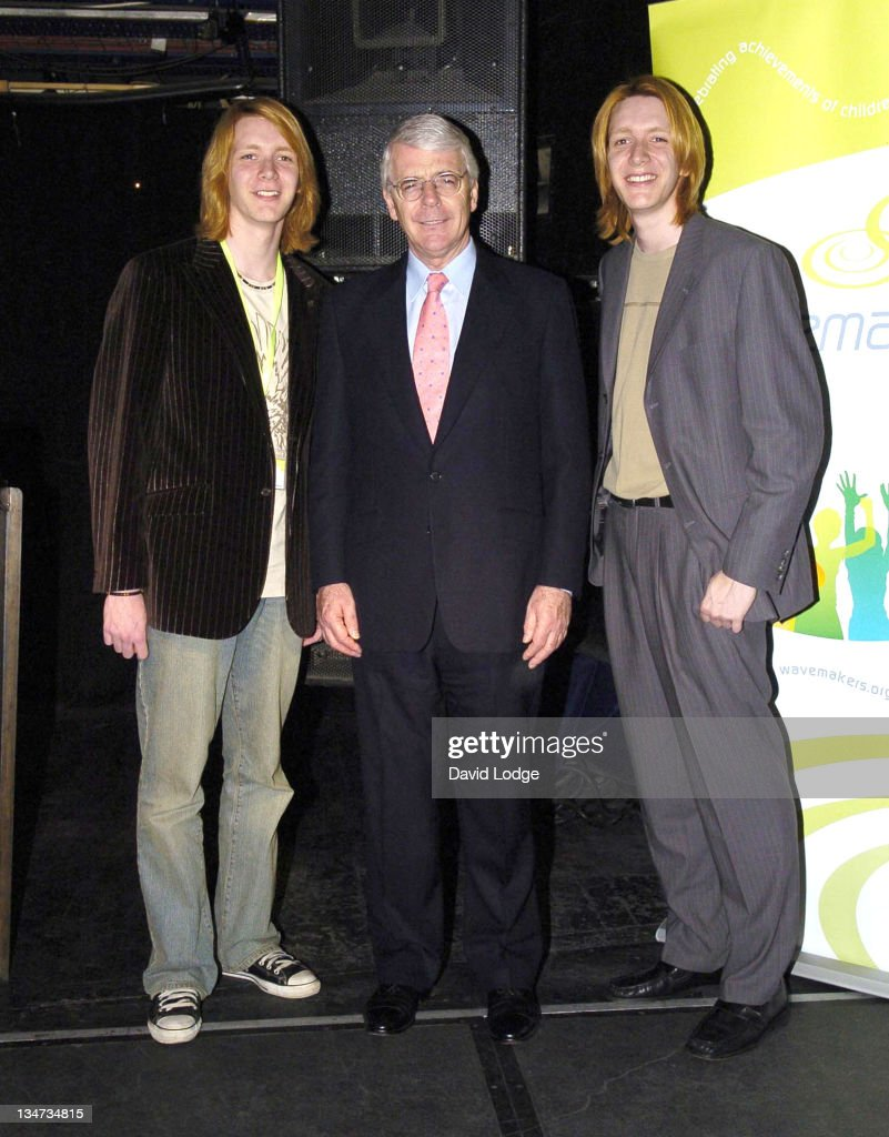 James Phelps John Major and Oliver Phelps during The Wavemaker Awards Photocall in London Great Britain