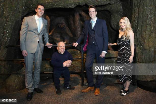 James Phelps Warwick Davis Oliver Phelps and Evanna Lynch come facetoface with Buckbeak the majestic creature in the Forbidden Forest at Warner Bros...