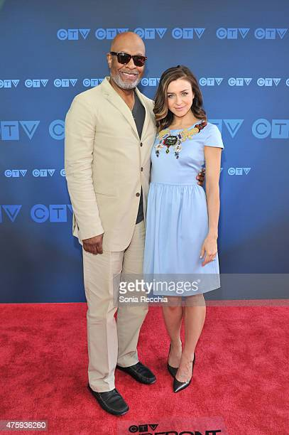 James Pickens Jr and Caterina Scorsone attend CTV Upfront 2015 Presentation at Sony Centre For Performing Arts on June 4 2015 in Toronto Canada