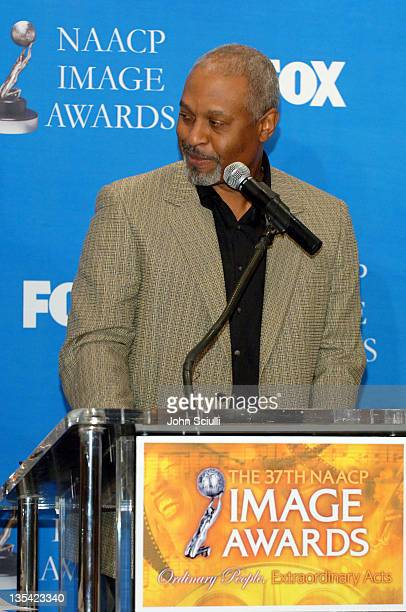 James Pickens Jr during The 37th NAACP Image Awards Nominations Press Conference at Peninsula Beverly Hills Hotel in Beverly Hills California United...