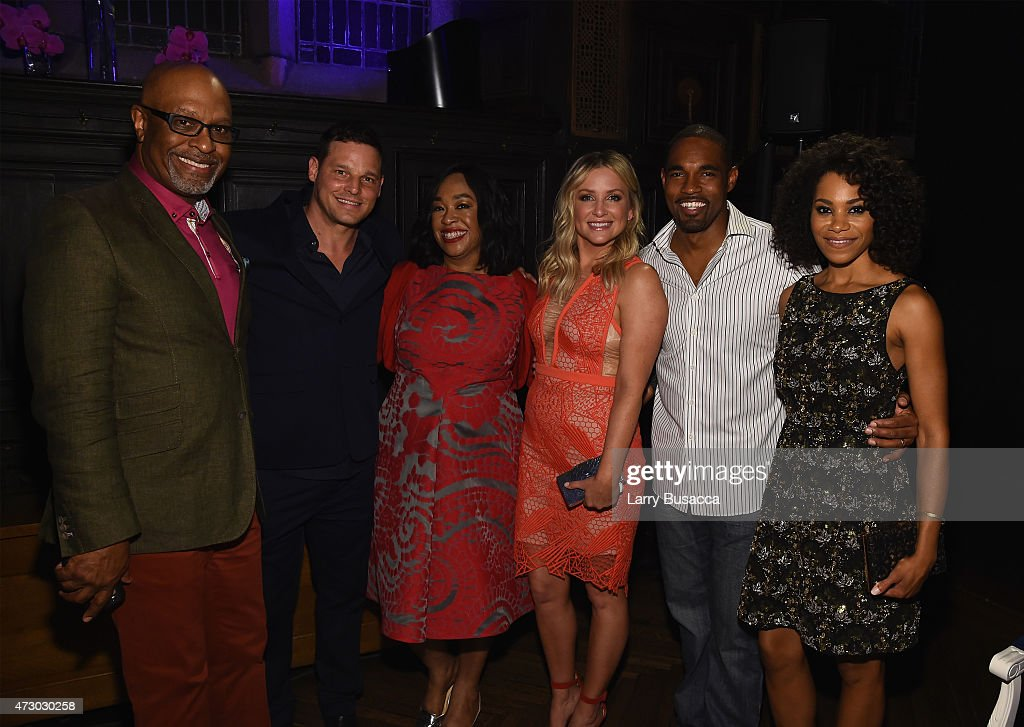 James Pickens Jr Justin Chambers Shona Rhimes Jessica Capshaw Jason Winston George and Kelly McCreary attend the Entertainment Weekly and PEOPLE...