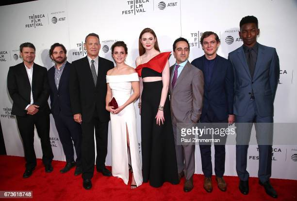 James Ponsoldt Tom Hanks Emma Watson Karen Gillan Amir Talai Ellar Coltrane and Mamoudou Athie attend the 2017 Tribeca Film Festival 'The Circle' at...