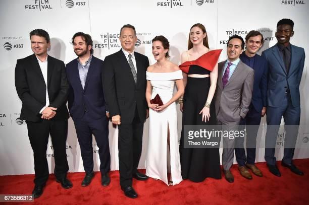 James Ponsoldt Tom Hanks Tom Hanks Emma Watson Karen Gillan Amir Talai Ellar Coltrane and Mamoudou Athie attend 'The Circle' Premiere at the BMCC...