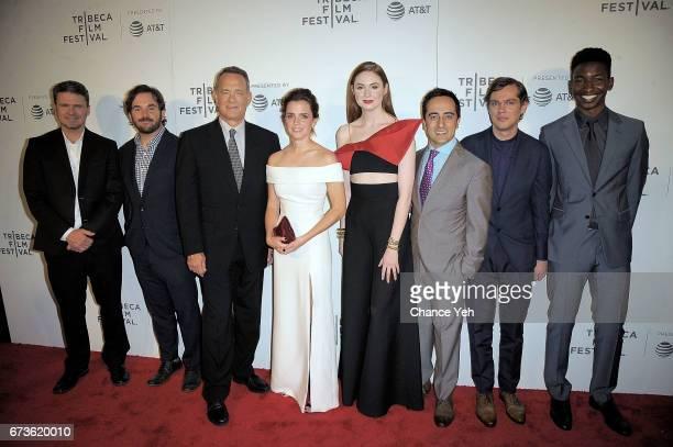 James Ponsoldt Tom Hanks Tom Hanks Emma Watson Karen Gillan Amir Talai Ellar Coltrane and Mamoudou Athie attend 'The Circle' screening during the...