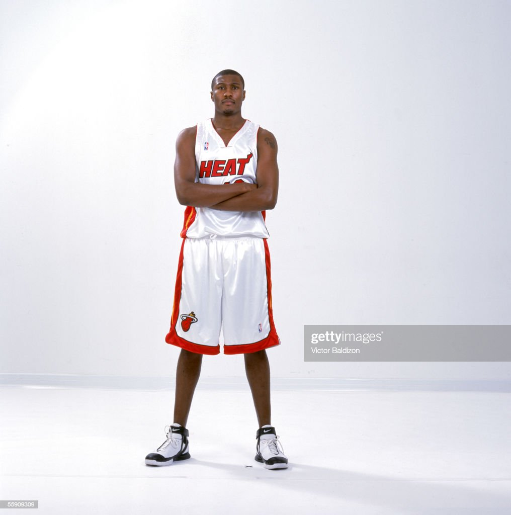 James Posey #42 of the Miami Heat poses for a portrait during the Miami Heat Media Day on October 3, 2005 in Miami, Florida.