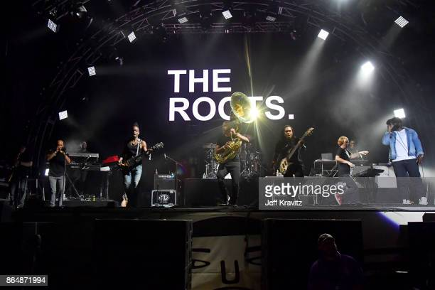 James Poyser Captain Kirk Tuba Gooding Jr Mark Kelley and Black Thought of The Roots perform at Camelback Stage during day 2 of the 2017 Lost Lake...