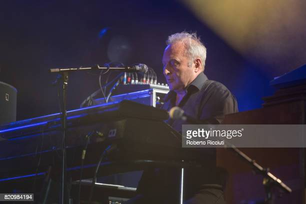 James Prime of Scottish pop rock band Deacon Blue performs on stage at Edinburgh Castle on July 22 2017 in Edinburgh Scotland