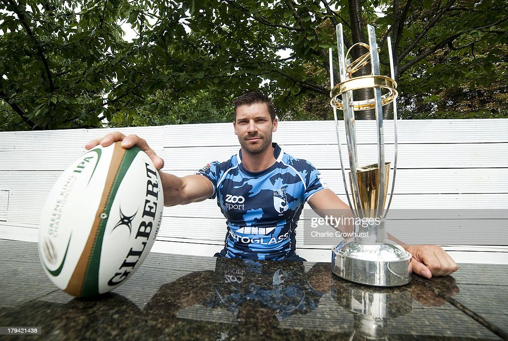 James Pritchard of Bedford Blues during the 2013/14 Greene King IPA Championship Launch at St Margarets Pub on September 03, 2013 in London, England.