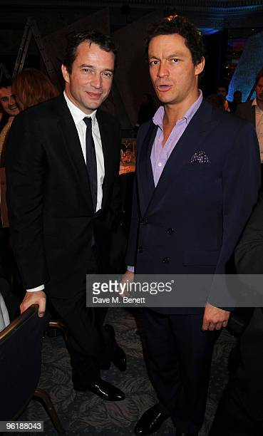 James Purefoy and Dominic West attend the South Bank Show Awards at The Dorchester on January 26 2010 in London England