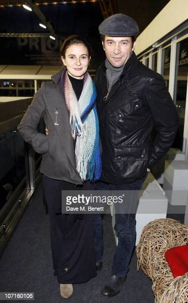 James Purefoy and girlfriend Jessica Adams pose at the Lacoste VIP Lounge at the ATP World Tour Finals in the O2 Arena on November 26 2010 in London...