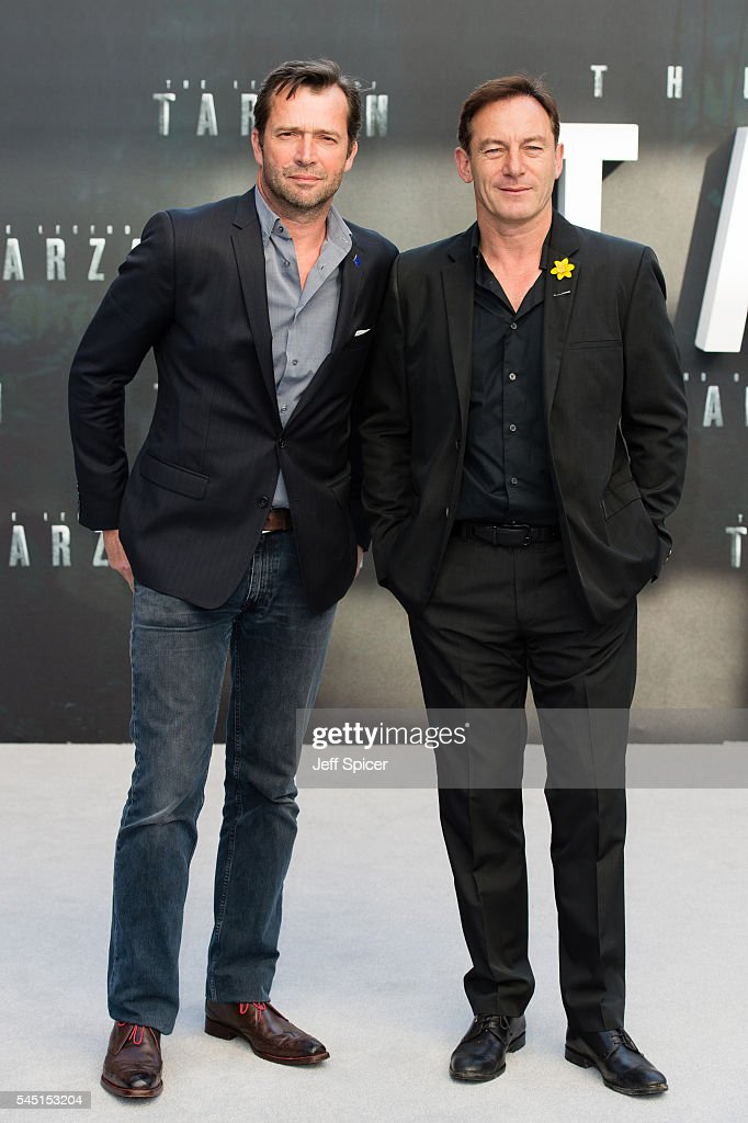 James Purefoy and Jason Isaacs attend the European premiere of 'The Legend Of Tarzan' at Odeon Leicester Square on July 5, 2016 in London, England.