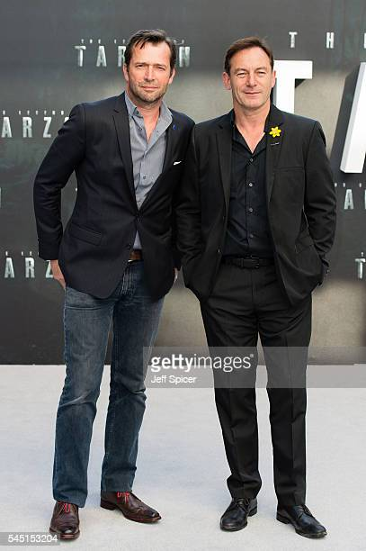 James Purefoy and Jason Isaacs attend the European premiere of 'The Legend Of Tarzan' at Odeon Leicester Square on July 5 2016 in London England
