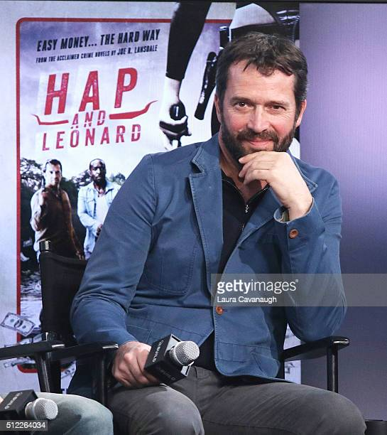James Purefoy attends AOL Build Speakers Series James Purefoy Michael K Williams Jimmi Simpson Jim Mickle Nick Damici and Joe Landsdale 'Hap and...