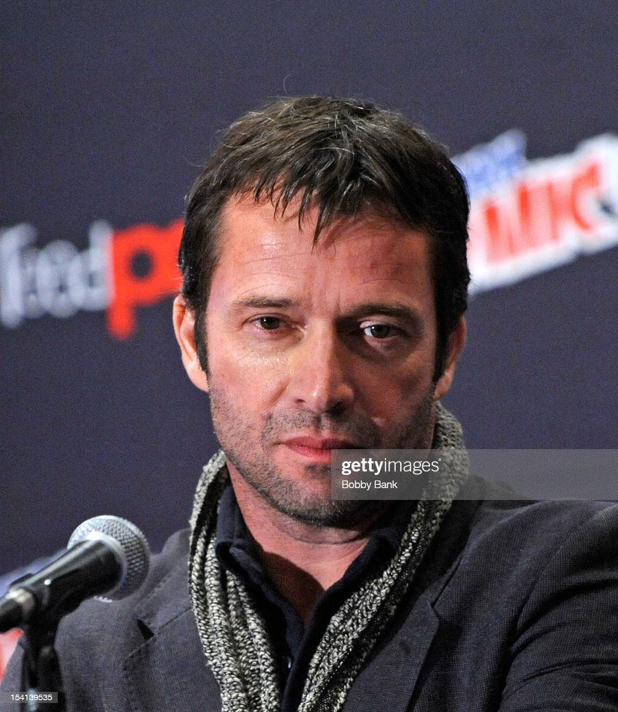 <a gi-track='captionPersonalityLinkClicked' href=/galleries/search?phrase=James+Purefoy&family=editorial&specificpeople=208228 ng-click='$event.stopPropagation()'>James Purefoy</a> attends the 'The Following Pilot Screening and Q & A' at the 2012 New York Comic Con at the Javits Center on October 14, 2012 in New York City.