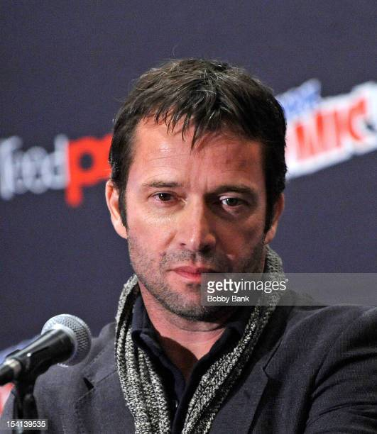 James Purefoy attends the 'The Following Pilot Screening and Q A' at the 2012 New York Comic Con at the Javits Center on October 14 2012 in New York...