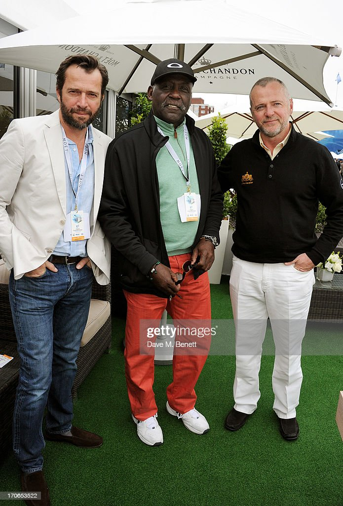James Purefoy, Richard Roundtree and Aidan Quinn attend The Moet & Chandon Suite at The Aegon Championships Queens Club finals on June 16, 2013 in London, England.