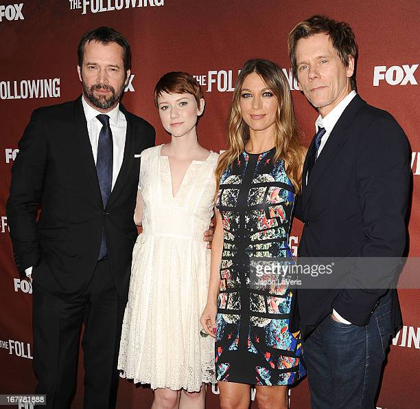 James Purefoy Valorie Curry Natalie Zea and Kevin Bacon attend a screening and QA of 'The Following' at Leonard H Goldenson Theatre on April 29 2013...