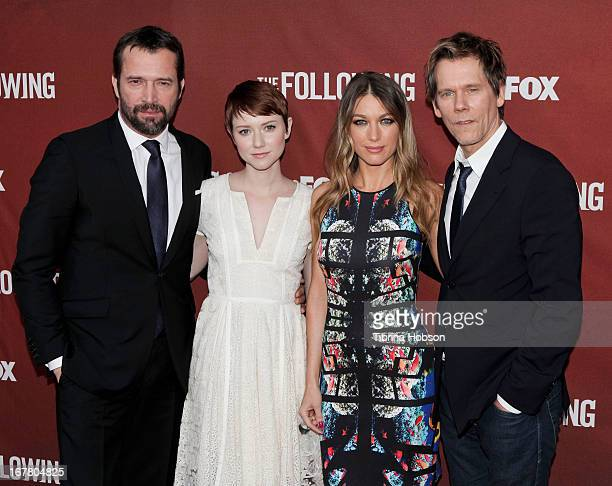 James Purefoy Valorie Curry Natalie Zea and Kevin Bacon attend FOX's 'The Following' special screening QA at Leonard H Goldenson Theatre on April 29...