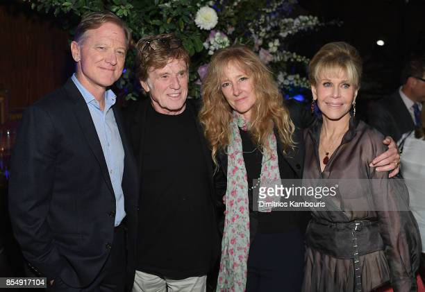 James Redford Robert Redford Shauna Redford and Jane Fonda attend the Netflix Hosts The New York Premiere Of 'Our Souls At Night' at at The Oak Room...