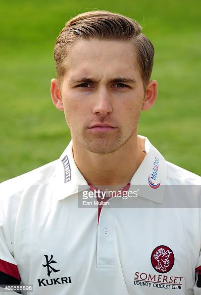 James Regan of Somerset poses during the Somerset CCC Photocall at The County Ground on March 17 2015 in Taunton England