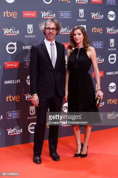 James Rhodes and Micaela Breque attends Platino Awards 2017 at La Caja Magica on July 22 2017 in Madrid Spain