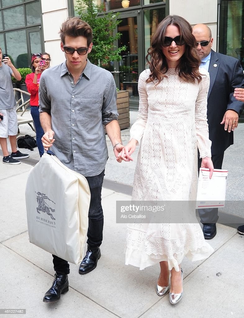 <a gi-track='captionPersonalityLinkClicked' href=/galleries/search?phrase=James+Righton&family=editorial&specificpeople=4174131 ng-click='$event.stopPropagation()'>James Righton</a> and <a gi-track='captionPersonalityLinkClicked' href=/galleries/search?phrase=Keira+Knightley&family=editorial&specificpeople=202053 ng-click='$event.stopPropagation()'>Keira Knightley</a> are seen in Soho on June 25, 2014 in New York City.