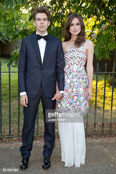 James Righton and Keira Knightley attend the annual Serpentine Galley Summer Party at The Serpentine Gallery on July 1 2014 in London England