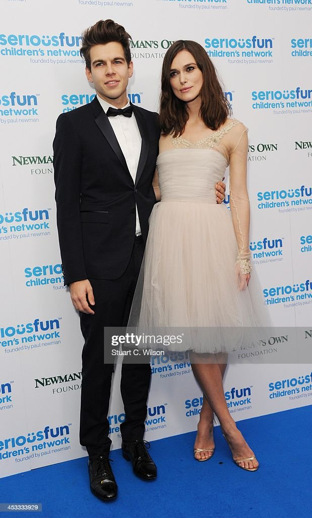 James Righton and Keira Knightley attend the SeriousFun London Gala 2013 at The Roundhouse on December 3, 2013 in London, England.The Serious Fun Children's Network is a growing community of camps and programs serving children with serious illnesses and their families and was set up by Paul Newman in 1988.
