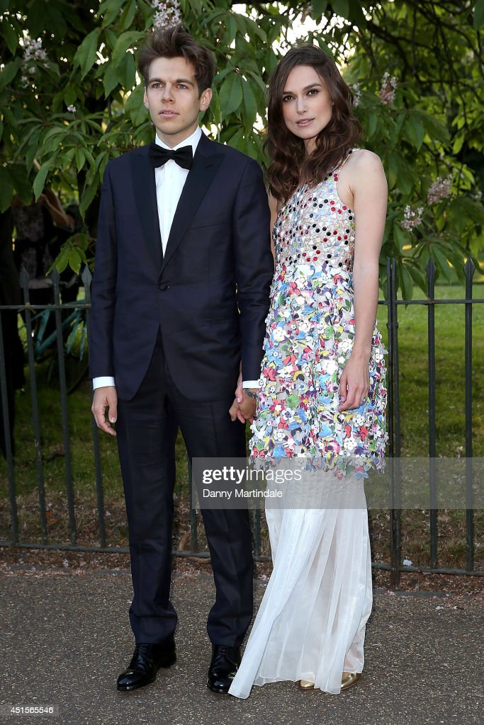 <a gi-track='captionPersonalityLinkClicked' href=/galleries/search?phrase=James+Righton&family=editorial&specificpeople=4174131 ng-click='$event.stopPropagation()'>James Righton</a> and <a gi-track='captionPersonalityLinkClicked' href=/galleries/search?phrase=Keira+Knightley&family=editorial&specificpeople=202053 ng-click='$event.stopPropagation()'>Keira Knightley</a> attends the annual Serpentine Galley Summer Party at The Serpentine Gallery on July 1, 2014 in London, England.