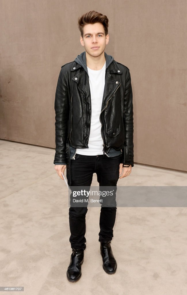 James Righton arrives at the Burberry AW14 Menswear Show at Kensington Gardens on January 8, 2014 in London, England.