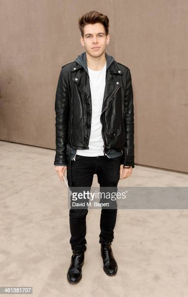 James Righton arrives at the Burberry AW14 Menswear Show at Kensington Gardens on January 8 2014 in London England