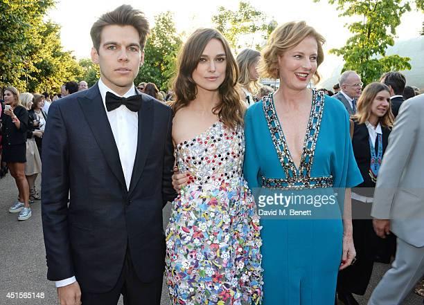 James Righton Keira Knightley and Julia Peyton Jones attend The Serpentine Gallery Summer Party cohosted by Brioni at The Serpentine Gallery on July...