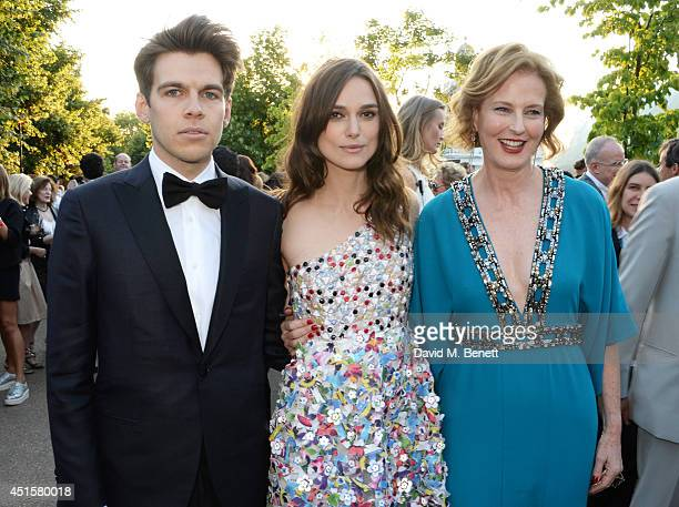 James Righton Keira Knightley and Julia Peyton Jones attend The Serpentine Gallery Summer Party cohosted by Brioni at The Serpentine Gallery on July...
