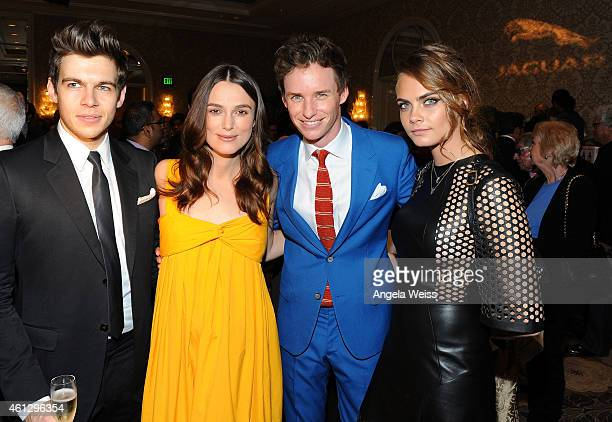 James Righton Keira Knightley Eddie Redmayne and Cara Delevingne attend the BAFTA Los Angeles TV Tea Party presented By Jaguar and Mulberry at The...