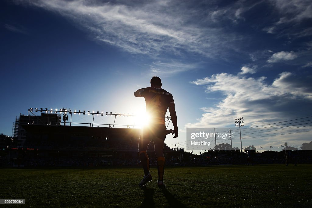 James Roberts of the Broncos looks on during the round nine NRL match between the Cronulla Sharks and the Brisbane Broncos at Southern Cross Group Stadium on May 1, 2016 in Sydney, Australia.