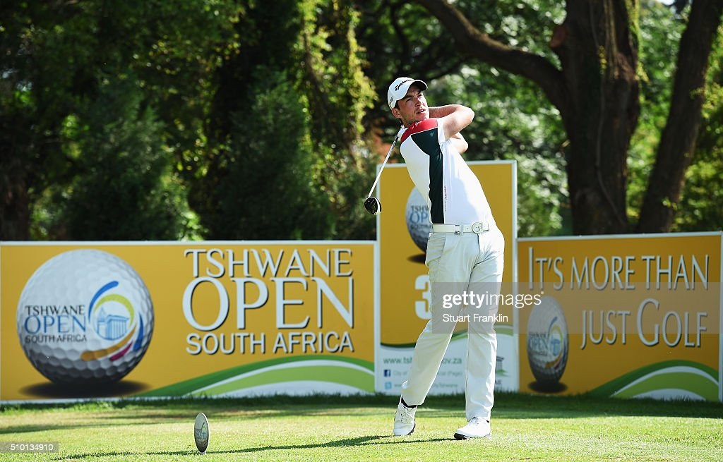 James Robinson of England plays a shot during the final round of the Tshwane Open at Pretoria Country Club on February 14, 2016 in Pretoria, South Africa.