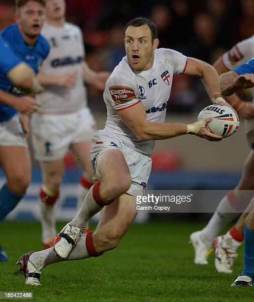 James Roby of England during the International match between England and Italy at Salford City Stadium on October 19 2013 in Salford England
