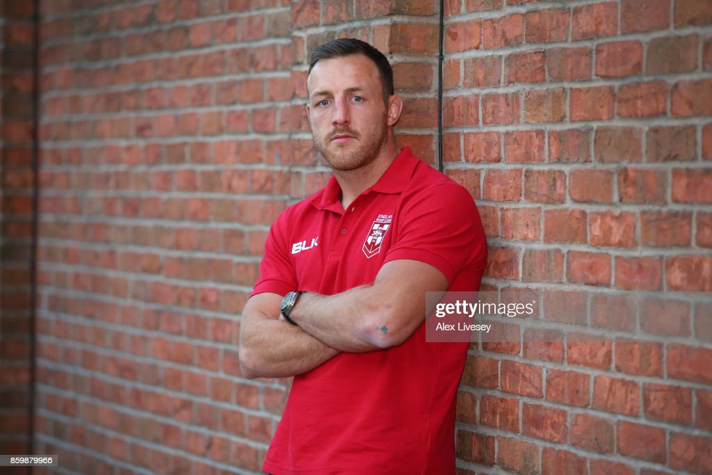 James Roby of England poses for a portrait during a England Rugby League media day at the Village Hotel on October 10, 2017 in Bury, England.