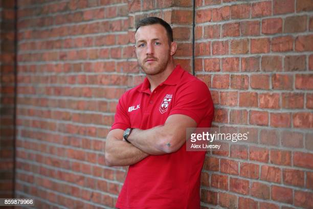 James Roby of England poses for a portrait during a England Rugby League media day at the Village Hotel on October 10 2017 in Bury England