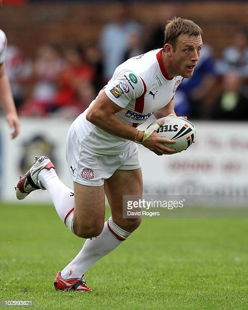 James Roby of St Helens runs with the ball during the Engage Super League match between St Helens and Harlequins RL at Knowsley Road on July 18 2010...