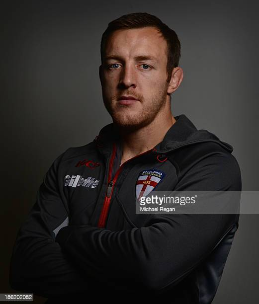 James Roby poses during the England media session for the Rugby League World Cup on October 29 2013 in Loughborough England
