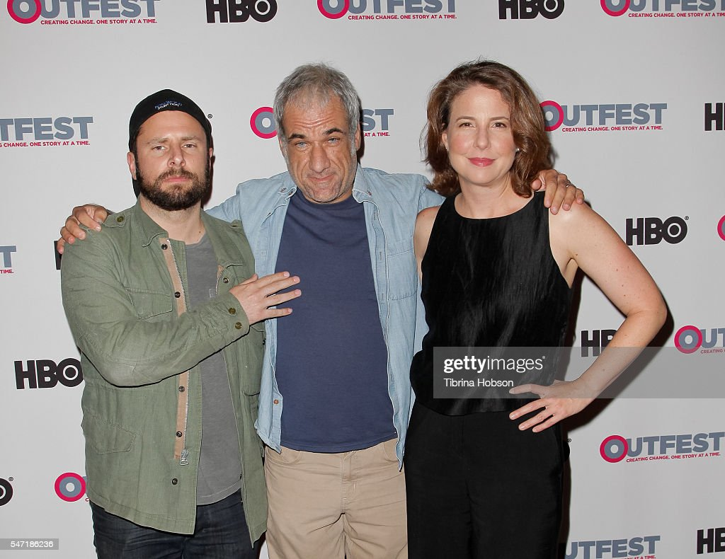 James Roday Tom E Brown and Robin Weigert attend the Outfest screening of 'Pushing Dead' at Director's Guild of America on July 13 2016 in West...