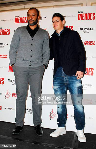 James Rodriguez attends the presentation of the book 'The Key to Mendes' by sport agent Jorge Mendes at Palace Hotel on January 22 2015 in Madrid...