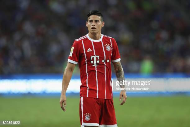James Rodriguez of Bayern Muenchen looks on during the International Champions Cup 2017 match between Bayern Muenchen and Chelsea FC at National...