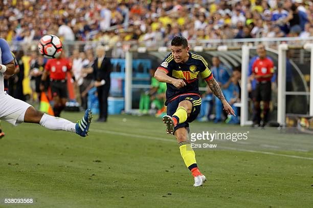 James Rodriguez of Colombia in action against the United States during the 2016 Copa America Centenario Group match between the United States and...