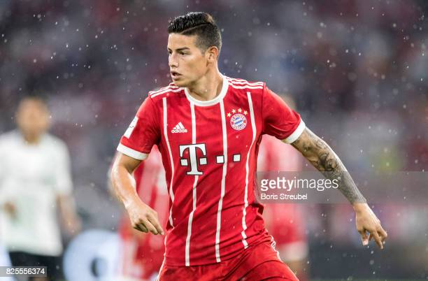 James Rodriguez of FC Bayern Muenchen runs during the Audi Cup 2017 match between Bayern Muenchen and Liverpool FC at Allianz Arena on August 1 2017...